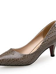 abordables -Mujer Zapatos Cuero Confort Tacones Tacón Bajo Estampado Animal para Oficina y carrera Vestido Fiesta y Noche Beige Morrón Oscuro