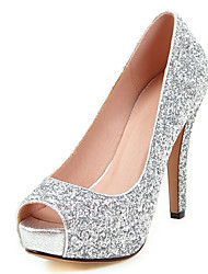cheap -Women's Heels Club Shoes Synthetic Spring Summer Fall Winter Wedding Dress Party & Evening Club Shoes Sequin Stiletto HeelGold Black