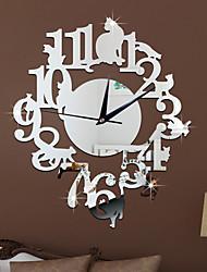 Moderno/Contemporaneo Casual Altro Floreale Caratteri Musica Orologio da parete,Novità Acrilico Interni/Esterni Orologio