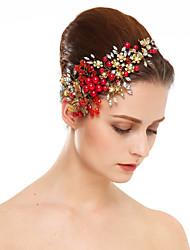 abordables -Imitation de perle Strass Fleurs 1 Mariage Occasion spéciale Casque