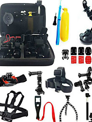 Accessory Kit For Gopro Bundle Kit Anti-Shock All in One, 147-Action Camera,Xiaomi Camera Gopro 5 Gopro 4 Gopro 3 Gopro 2 Gopro 1 Sports