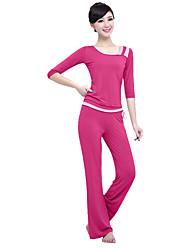 Yoga Set di vestiti/Completi Traspirante Comodo Elastico Abbigliamento sportivo Per donnaYoga