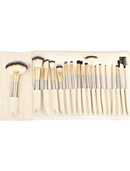cheap -18pcs Makeup Brushes Professional Eyeshadow Brush / Lip Brush / Brow Brush Synthetic Hair Portable / Travel / Eco-friendly Wood