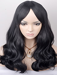 cheap -Synthetic Hair Wigs Loose Wave Capless Carnival Wig Halloween Wig Natural Wigs Medium Black Synthetic Wig