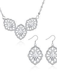 Smykkesæt Smykker Plastik Sølvbelagt Klassisk Bladformet Sølv Daglig Afslappet 1 Sæt 1 Halskæde Øreringe Bryllupsgaver