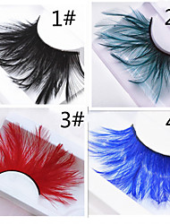 cheap -Eye Lifted lashes Coloured gloss Daily Makeup Full Strip Lashes Crisscross Colorful Makeup Tools High Quality Daily