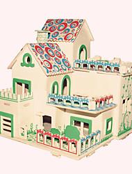 Jigsaw Puzzles Wooden Puzzles Building Blocks DIY Toys  Garden Villa 1 Wood Ivory Model & Building Toy