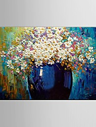 cheap -Oil Painting Flower Knife Living Painting Hand Painted Canvas with Stretched Framed Ready to Hang