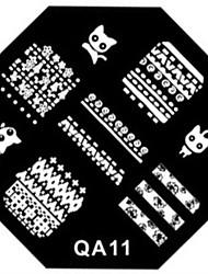 Недорогие -ногтей штамп штамповка изображения шаблон пластины