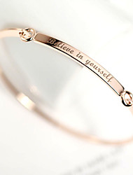 cheap -Personalized Initials Bracelet & Bangle DIY Women's Gift Rose Gold Plated Bar Custom Engraved Name Bracelet Letters Jewelry