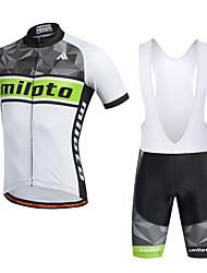 Miloto Maglia con salopette corta da ciclismo Per uomo Manica corta Bicicletta Salopette Pantaloncini /Cosciali Maglietta Felpa