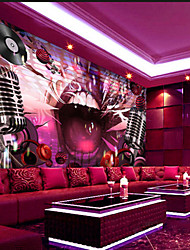 JAMMORY Art DecoWallpaper For Home Wall Covering Canvas Adhesive required Mural Pink Background KTV XL XXL XXXL