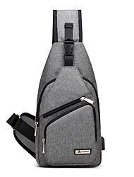 cheap -Unisex Bags Canvas Sling Shoulder Bag for Casual Sports Office & Career Outdoor Professioanl Use All Seasons Black Gray Purple
