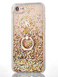 cheap -For iPhone 8 iPhone 8 Plus iPhone 7 iPhone 7 Plus iPhone 6 Case Cover Flowing Liquid Ring Holder Back Cover Case Glitter Shine Hard PC for