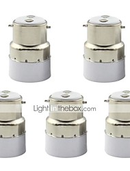 cheap -B22 to E14 Small Screw Adapter Converter Socket for Lamp Lights Bulb (5 Pieces)