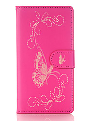 cheap -Case For Sony / Sony Xperia X Wallet / Card Holder / with Stand Full Body Cases Butterfly Hard PU Leather for Sony Xperia X / Sony Xperia