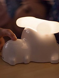 1PC Creative Puppy Bedside Lamp Usb Charging Gifts Small Night Lamp Dimming Touch-Sensitive Lights (Random Color)