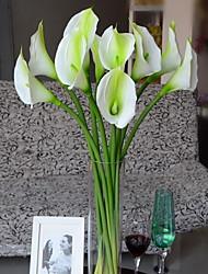 Set of 1 PCS 1 Afdeling Polyester Calla-lilje Bordblomst Kunstige blomster 28