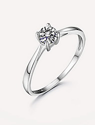 Ring Silver Simulated Diamond Fashion Silver Jewelry Wedding Engagement Daily Casual 1pc