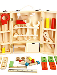 cheap -Tool Box Toy Tool Simulation Safety Wooden Boys' Kid's Gift