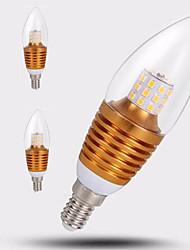 E14 Ampoules Bougies LED C35 35LED SMD 2835 650 lm Blanc Chaud 2700-3500 K Décorative AC 100-240 V