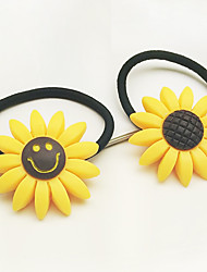cheap -Han Edition Hair Bands Hair Sunflower Sunflower Lovely Smile Jewelry Line Tire Rope 10pcs