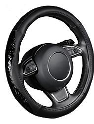 autoyouth pu volante de couro tampa da roda padrão de lichia preto com tamanho moda serpentina couro m encaixa 38 centímetros / 15