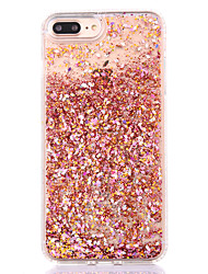 cheap -For iPhone 8 iPhone 8 Plus iPhone 7 iPhone 7 Plus iPhone 6 Case Cover Flowing Liquid Back Cover Case Glitter Shine Hard PC for Apple