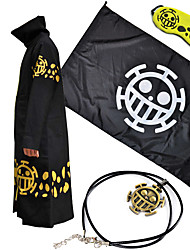 Inspired by One Piece Trafalgar Law Anime Cosplay Costumes Cosplay Suits Solid Cloak For Unisex