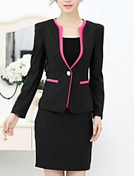 terno da moda ol das mulheres (blazer&saia)