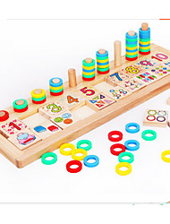 cheap -Montessori Teaching Tool Wooden Puzzles Education Wood 1pcs Kid's Girls' Boys' Gift
