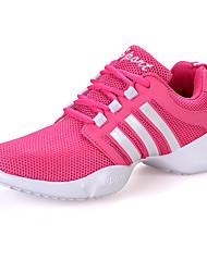 Scarpe da ballo-Non personalizzabile-Da donna-Sneakers da danza moderna-Piatto-Tessuto-Nero Rosa Bianco