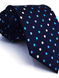 cheap -B24 Mens Necktie Navy Blue Multicolor Dots 100% Silk Business New Fashion Wedding Dress For Men