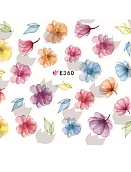 cheap -1 pcs Ultra Thin Hand-Painted Flowers Nail Stickers