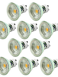 abordables -10pcs 5W 550-650lm GU10 Spot LED 1 Perles LED COB Intensité Réglable Décorative Blanc Chaud Blanc Froid 220-240V