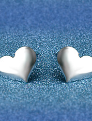 Stud Earrings Jewelry Love Silver Plated Alloy Heart Jewelry For Wedding Party Daily Casual