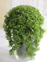 10 Head Simulation of Plastic Moss Grass Fake Green Plant Hanging Flower Arranging Household Windowsill Adornment Plants  (green)