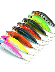 cheap -8 pcs Hard Bait Minnow Fishing Lures Minnow Hard Bait Hard Plastic Stainless Steel / Iron Freshwater Fishing Other General Fishing Lure