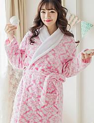 Bath RobeReactive Print High Quality 100% Coral Fleece Towel