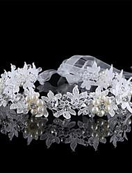 cheap -Hot Hair Creative Hand-Made Flowers Pearl Lace Collar The Bride Wedding Dress Accessories Tire Hair Band 1PCS