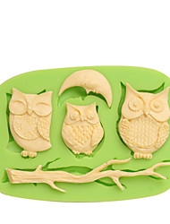 Promotional Giveaways Silicone 3D Cake Decorative Molds Owls Color Random Color Random