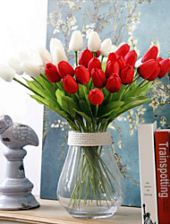 cheap -Artificial Flowers 10 Branch Simple Style Tulips Tabletop Flower