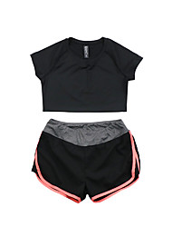 cheap -Women's Running T-Shirt with Shorts Short Sleeves Quick Dry Breathable T-shirt Clothing Suits for Yoga Exercise & Fitness Running Modal