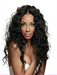 cheap -Remy Human Hair Full Lace / Glueless Full Lace Wig Water Wave 130% Density Natural Hairline / African American Wig / 100% Hand Tied Women's Short / Medium Length / Long Human Hair Lace Wig