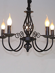 cheap -Chandelier ,  Modern/Contemporary Traditional/Classic Vintage Retro Others Feature for Mini Style Candle Style MetalLiving Room Bedroom