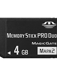 4GB High Speed Black MS Memory Stick Pro Duo Card Storage for Sony PSP 1000/2000/3000 Game Console