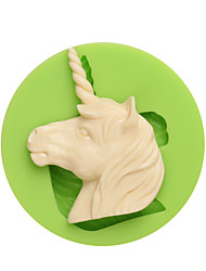 cheap -Western Myths and Legends Unicorn Shape Silicone Molds for Candy Chocolate and Cookie Color Random