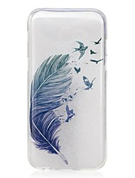 For Samsung Galaxy A5(2017) A3(2017) Case Cover Feathers Pattern High Permeability TPU Material IMD Craft Phone Case