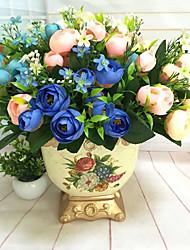 1Pc 5 Fork 10 Head Mini Tea Bud 6 Color Flower Plant Flowers Wholesale Simulation Simulation Package    A Bundle Selling