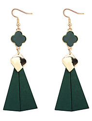 cheap -Women's Drop Earrings - Simple Style / European Black / Red / Green Four Leaf Clover Earrings For Party / Daily / Casual
